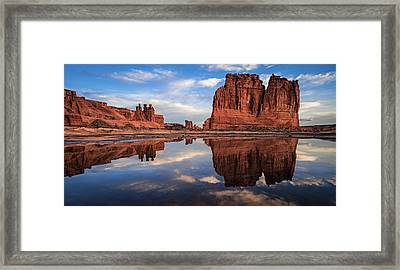 Reflections Of Organ Framed Print by Edgars Erglis