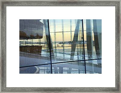Reflections Of Oslo Framed Print by David Chandler