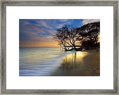 Reflections Of Paradise Framed Print by Mike  Dawson