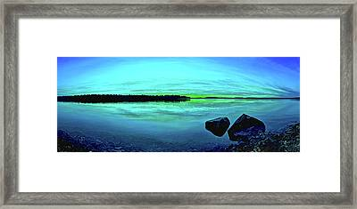 Reflections Of Serenity Panorama Framed Print by Bill Caldwell -        ABeautifulSky Photography