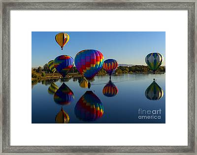 Reflections Of Seven Framed Print by Mike Dawson