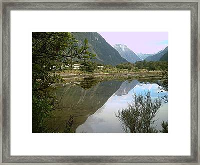 Reflections  Of The Mountings Framed Print by Joyce Woodhouse