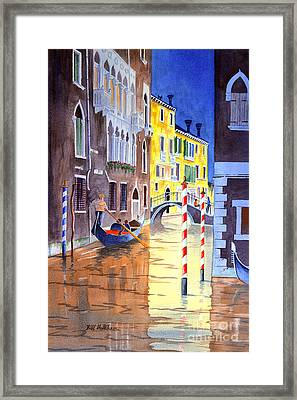 Reflections Of Venice Italy Framed Print by Bill Holkham