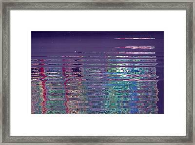 Reflections On A Rainy Morn Framed Print by Anne-Elizabeth Whiteway