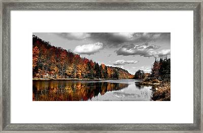 Reflections On Bald Mountain Pond II Framed Print by David Patterson