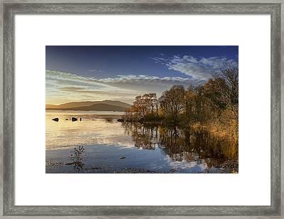 Reflections On Lough Cullin Framed Print by Frank Fullard