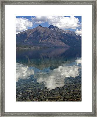 Reflections On The Lake Framed Print by Marty Koch