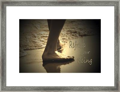 Refresh Your Being Spa Series Framed Print by Cathy  Beharriell