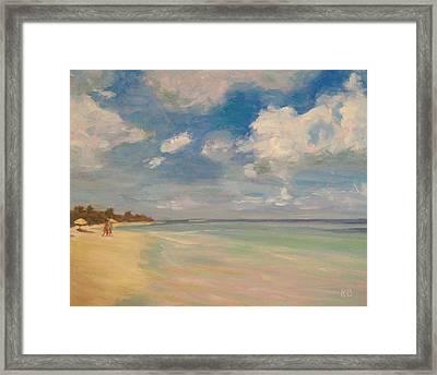 Refreshing - Tropical Beach Vacation Framed Print by Robie Benve