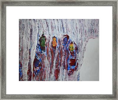 Refugees Framed Print by Rosemen Elsayad