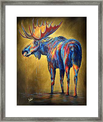 Regal Moose Framed Print by Teshia Art