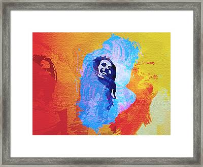 Reggae Kings Framed Print by Naxart Studio