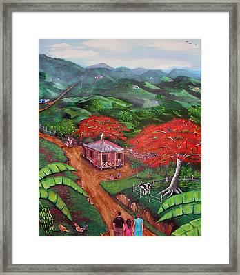 Regreso Al Campo Framed Print by Luis F Rodriguez