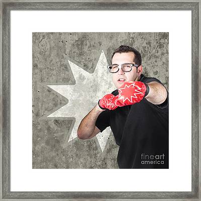 Regular Guy Exercising. Bootcamp Fitness Workout Framed Print by Jorgo Photography - Wall Art Gallery