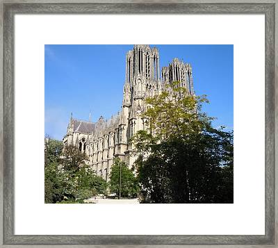Reims Cathedral Reims France Framed Print by Marilyn Dunlap