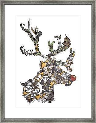 Reindeer Games Framed Print by Tyler Auman