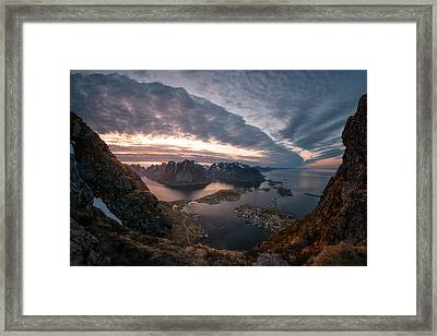 Reine Framed Print by Tor-Ivar Naess