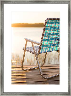 Relaxing At The Lake Framed Print by Shelby  Young