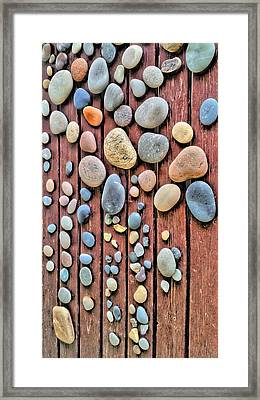 Relaxing Drops Of Stone Framed Print by Sascha Richartz