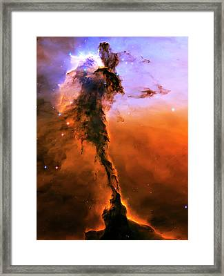 Release - Eagle Nebula 2 Framed Print by The  Vault - Jennifer Rondinelli Reilly