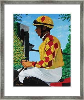 Reluctant Rider Framed Print by Robert Bunting