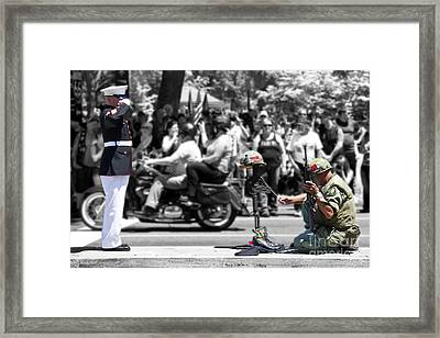 Remembering The Cost Of Freedom Framed Print by Tom Gari Gallery-Three-Photography