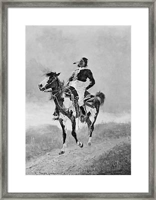 Remington: Comanche, C1890 Framed Print by Granger