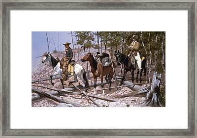 Remington: Prospecting Framed Print by Granger