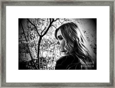 Reminiscing In The Park Framed Print by Krissy Katsimbras