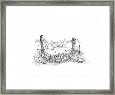 Remnants Of The Past Framed Print by Barney Hedrick
