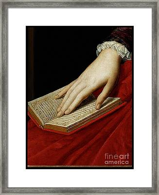 Renaissance Old Master Abbreviated Image From 1545 Framed Print by Tina Lavoie