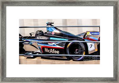 Renault Formula E Racing 7 Framed Print by Rene Triay Photography