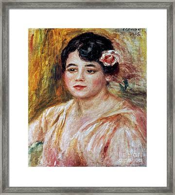 Renoir: Adele Besson, 1918 Framed Print by Granger