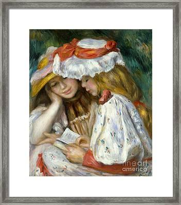 Renoir: Two Girls Reading Framed Print by Granger
