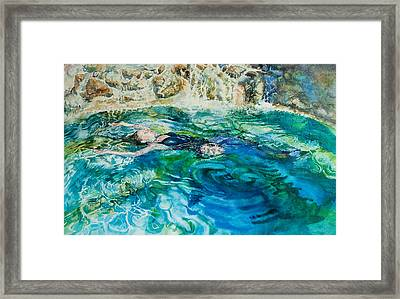 Repose In A Pool In France Framed Print by Gilly Marklew