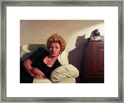 Repose Framed Print by James W Johnson