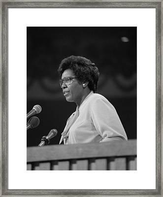 Representative Barbara Jordan Delivers Framed Print by Everett