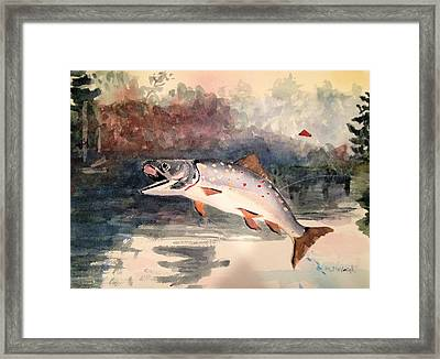 Reproduction Of Winslow Homer Leaping Trout Framed Print by Marita McVeigh