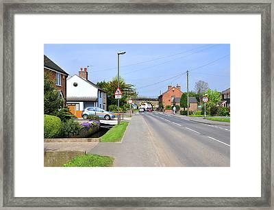 Repton Road - Willington Framed Print by Rod Johnson