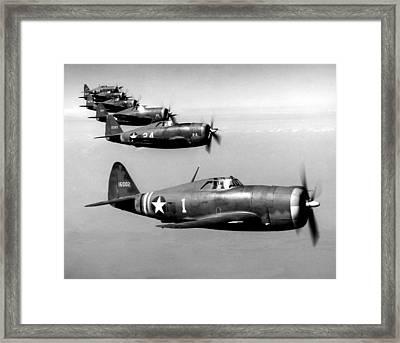 Republic P-47 Thunderbolts, Circa 1943 Framed Print by Everett