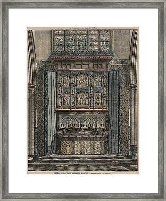 Reredos Chapel Of Aukland Castle 1884 Framed Print by Dodgson Fowler
