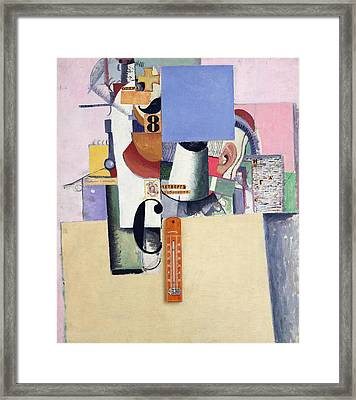 Reservist Of The First Division Framed Print by Kazimir Severinovich Malevich