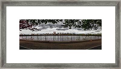 Reservoir Panorama Framed Print by Robert Ullmann