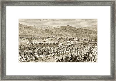 Residence Of Brigham Young Salt Lake Framed Print by Vintage Design Pics