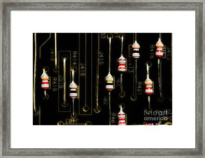 Resistors Framed Print by Michael Eingle