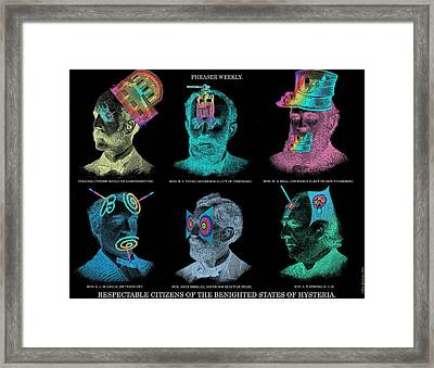 Respectable Citizens Of Our Republic Framed Print by Eric Edelman