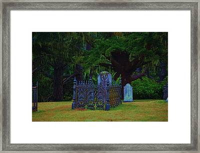 Rest In Peace Framed Print by Helen Carson