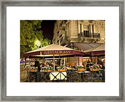 Restaurant In Budapest Framed Print by Madeline Ellis