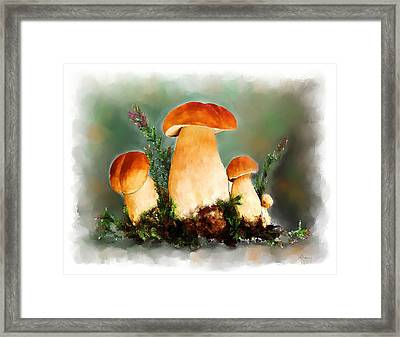 Restaurant Menu Illustration Framed Print by Michael Greenaway