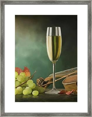 Restaurant Menu Paintings Framed Print by Michael Greenaway